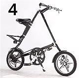 16インチ 折りたたみ自転車 折畳自転車 おりたたみ自転車 MTB おりたたみ自転車W960 ブラック