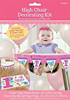 Flowers and Butterflies Girl's 1st Birthday Party High Chair Decorating Kit [並行輸入品]