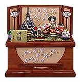 雛人形 収納飾り ひな人形 衣裳着親王飾り 新吉野 桜刺繍納箱 W55×D32×H52cm S2-13698