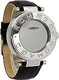 [ロマゴデザイン]ROMAGO DESIGN 腕時計 フロー LED ミラーウォッチ 革ベルト RM002-0055ST-SV ユニセックス [並行輸入品]