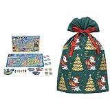 エポック(EPOCH) どこでもドラえもん日本旅行ゲーム5 62×0.2×40cm ABS + インディゴ クリスマス ラッピング袋 グリーティングバッグ4L メリーサンタ ダークグリーン XG605