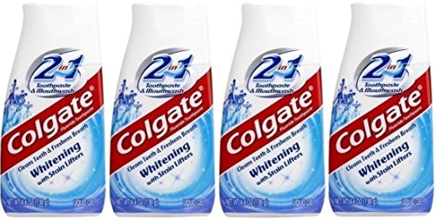 貢献良性学期Colgate 2-IN-1ホワイトニングで染色リフター歯磨き粉4.60オンス(4パック)