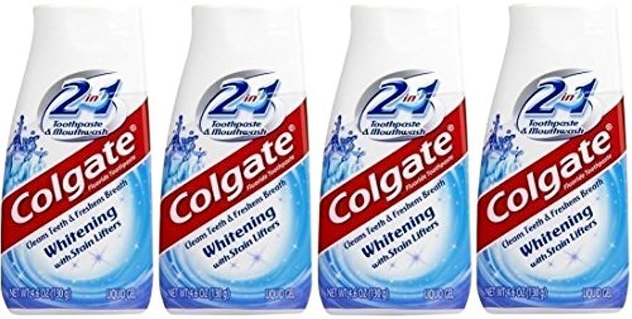 打ち上げる理解する滑り台Colgate 2-IN-1ホワイトニングで染色リフター歯磨き粉4.60オンス(4パック)
