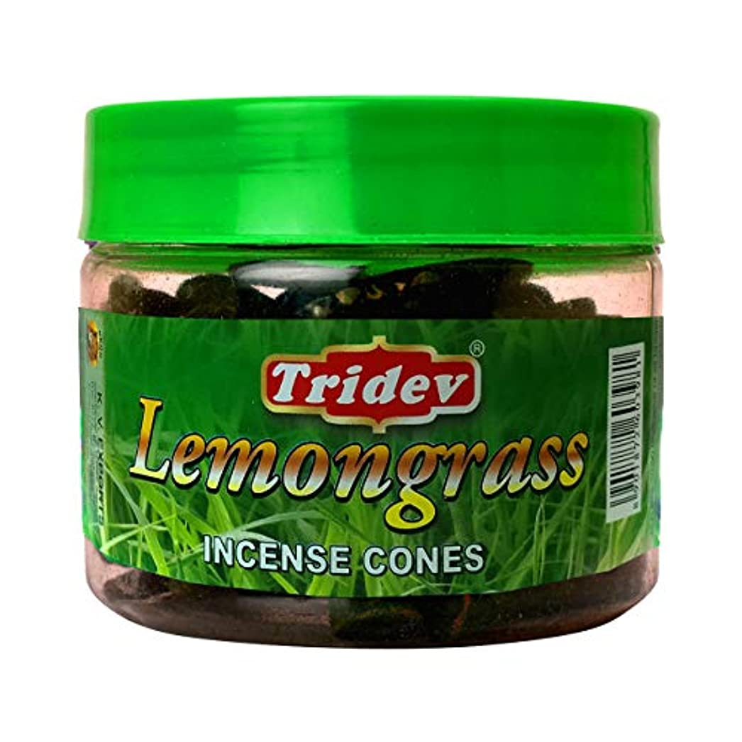 島マイナス円形のTridev レモングラスフレグランス コーン型お香瓶 1080グラム ボックス入り 12個入り 輸出品質