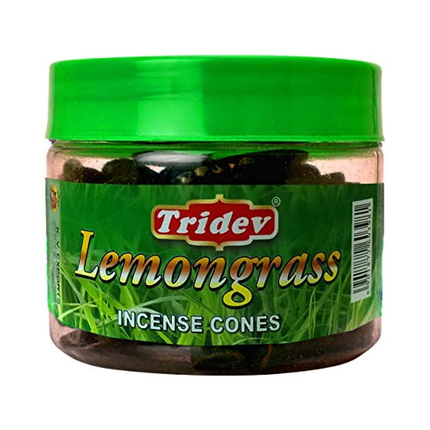 逆甥受粉者Tridev レモングラスフレグランス コーン型お香瓶 1080グラム ボックス入り 12個入り 輸出品質