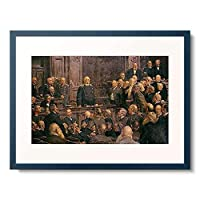 Henseler, Ernst,1852-1940 「Bismarcks letzte Reichstagsrede am 6.Februar 1888. (Entstanden 1901)」 額装アート作品