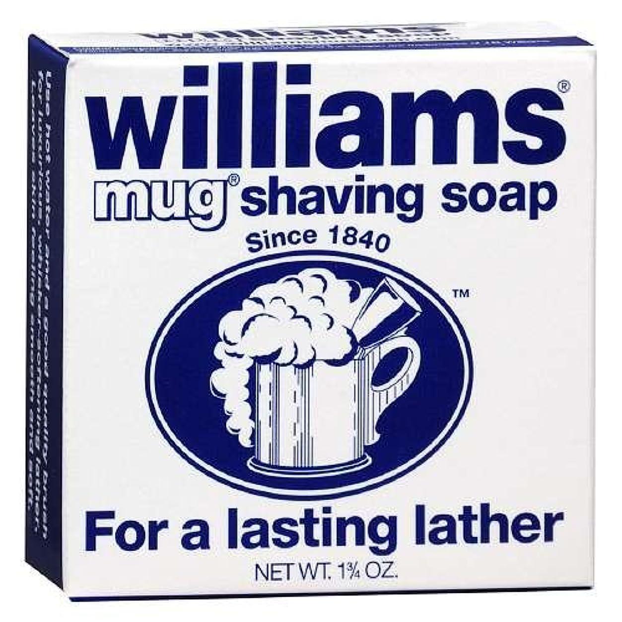 耐えられない研磨レギュラーShaving Soap Mug 1.75 oz By Williams For a Lasting Lather (Pack of 6) [並行輸入品]