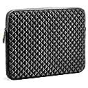 Evecase 13.3-14 インチ スリーブ ケース ネオプレン製 男女兼用 タブレット ラップトップ インナーバッグ 菱格柄 - ブラック