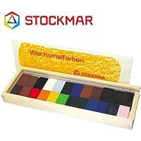 Stockmar(シュトックマー社) 蜜ろうクレヨン ブロッククレヨン 24色 木箱【ST35602】