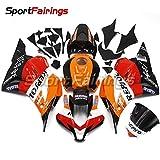 Sportfaiirngs オートバイ バイク外装パーツ 適合 ホンダ CBR600RR CBR600-RR F5 09-12 2009 2010 2011 2012 年 オレンジと赤と黒 バイク カウル