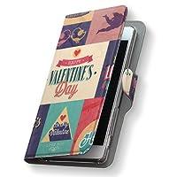 Xperia Z3 401SO ケース カバー 手帳型 スマコレ レザー 手帳タイプ 革 401SO スマホケース スマホカバー Xperia Z3 エクスペリア その他 007377 Sony ソニー softbank ソフトバンク 文字 英語 カラフル レトロ s-401so-007377-nb
