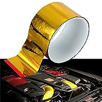 Beho 反射ゴールドアルミ箔テープペット熱保護ロール高性能 50mmx 4.5 m