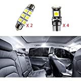 For VW Bora 1999-2006Extremely Bright Super Bright LED Chipset Bulbs For Car Interior Lights Dome Light Bulbs White 6Pcs