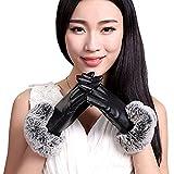 PUレザー手袋 レディース手袋 スマホ対応オシャレ手袋 PUレザー レディース グローブ 裏起毛 保温 暖かい ファー付 アウトドア タッチパネル