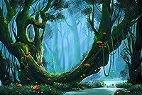 phsfubel 7x 5ftシームレスなしわ防止ポリエステルWashable Fairy Tale Happyフォレスト写真バックドロップCool背景バックドロップデザイン