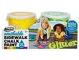 (Glitter Green/Yellow) - RoseArt Washable Sidewalk Chalk Paint (2 Count), Glitter Green/Yellow