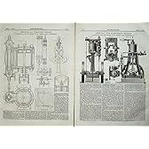 1876 縦の不凝縮エンジン工学図表