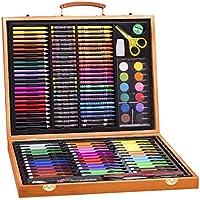 150枚 子供用の水彩ペン セット 高品質 絵画 色鉛筆 クレヨン オイルパステル 描画ツール (イエロー)