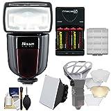 ニッシンデジタルdi700aワイヤレスズームフラッシュ(for Nikon i-ttl) withソフトボックス+ディフューザーBouncer +電池&充電器+キット