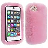 背面ケース iPhone Xr、SIMPLE DO 保護カバー ソフト 指紋防止 柔らかく暖かい ふわふわ 薄い 耐衝撃 落下防止 レディース (ピンク)
