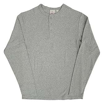 AVIREX デイリー ヘンリーネック ロングスリーブ Tシャツ #6153482(旧品番#618875)Sグレー