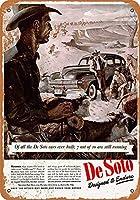 白い桜雑貨屋 ブリキ 看板(30x40cm) 1944 De Soto Cowboys ブリキの看板 家の壁にブリキを飾って古風に復す おしゃれ 雑貨 通販 居間、寝室、台所、バー