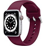 Ontube Strap Compatible with Apple Watch,Soft Silicone Sport Bands Replacement Wristband for Series SE/6/5/4/3/2/1 (38MM/40MM