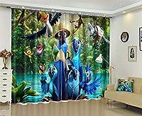 100%のポリエステル景色3Dの停電の家のホテルのCurtianの居間のための窓カーテン,E,W264*H160cm