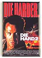 Die Hard 2: Die Harder映画ポスター冷蔵庫マグネット( 2.5X 3.5インチ)