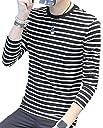 (サコイユ) sakoiyu メンズ Tシャツ 長袖 ロンT ボーダー トップス カットソー カジュアル ウェア 春 夏 黒 白 (M)