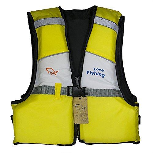 FISH ライフジャケット ライフベスト 子供用  股ベルト付き 調整可能 釣り 水泳