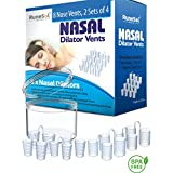 Stop Snoring Aid - Nasal Dilator x 8 Anti Snoring Devices | Supports Sleep Apnea and Best Aids Breathing | Premium Nose Vents and Snore Stoppers | Nasal Dilators for Nasal Congestion and Anti Snoring