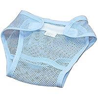 Diaper Nappy Pant Baby Infant Breathable Reusable Underwear Adjustable Hook Loop(L-Blue)