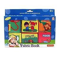 hamulekfae-6ピースカラフルな子供幼児赤ちゃん柔らかい布本教育早期学習玩具one
