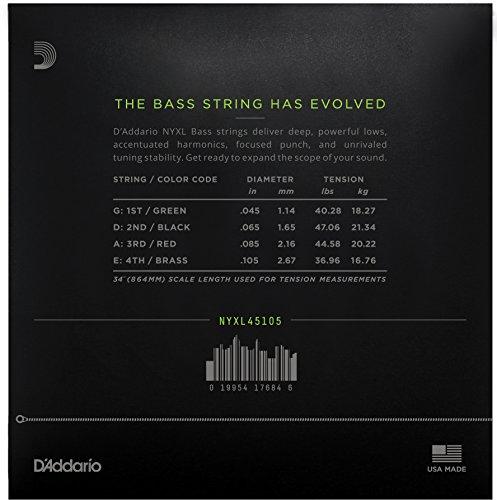 D'Addario ダダリオ ベース弦 NYXL Long Scale .045-.105 NYXL45105 【国内正規品】