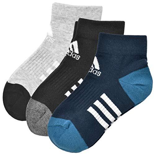 c85b1a6edf8536 [アディダス] adidas 靴下 キッズ 三足組 セット メンズ 男の子 子供用 スニーカーソックス