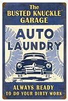 Busted Knuckle Garage bust150Car Washメタルショップサイン