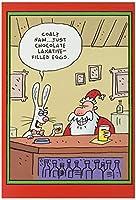 サンタEaster Bunny Laxative卵クリスマスJokeカード 1 Christmas Card & Envelope (SKU:1771)