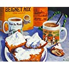 Cafe Du Monde Biegnet Mix New Orleans Baltas Matted Art Print French Quarter by Baltas [並行輸入品]