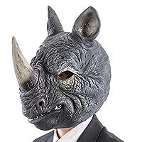 カーニバルのおもちゃ1497 Rhinoマスク、グレー、ワンサイズ