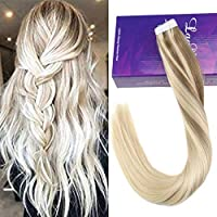 LaaVoo 16インチRemy人毛エクステンションテープin#Nordic Real Human Hair Ombre Extensions 50グラム/パッケージ