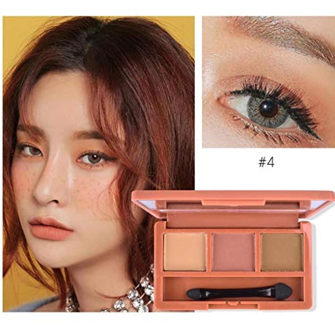 光沢ビーチソーセージFidgetGear ミラーブラシツールと3色マットアイシャドウ化粧パレットアイシャドウ
