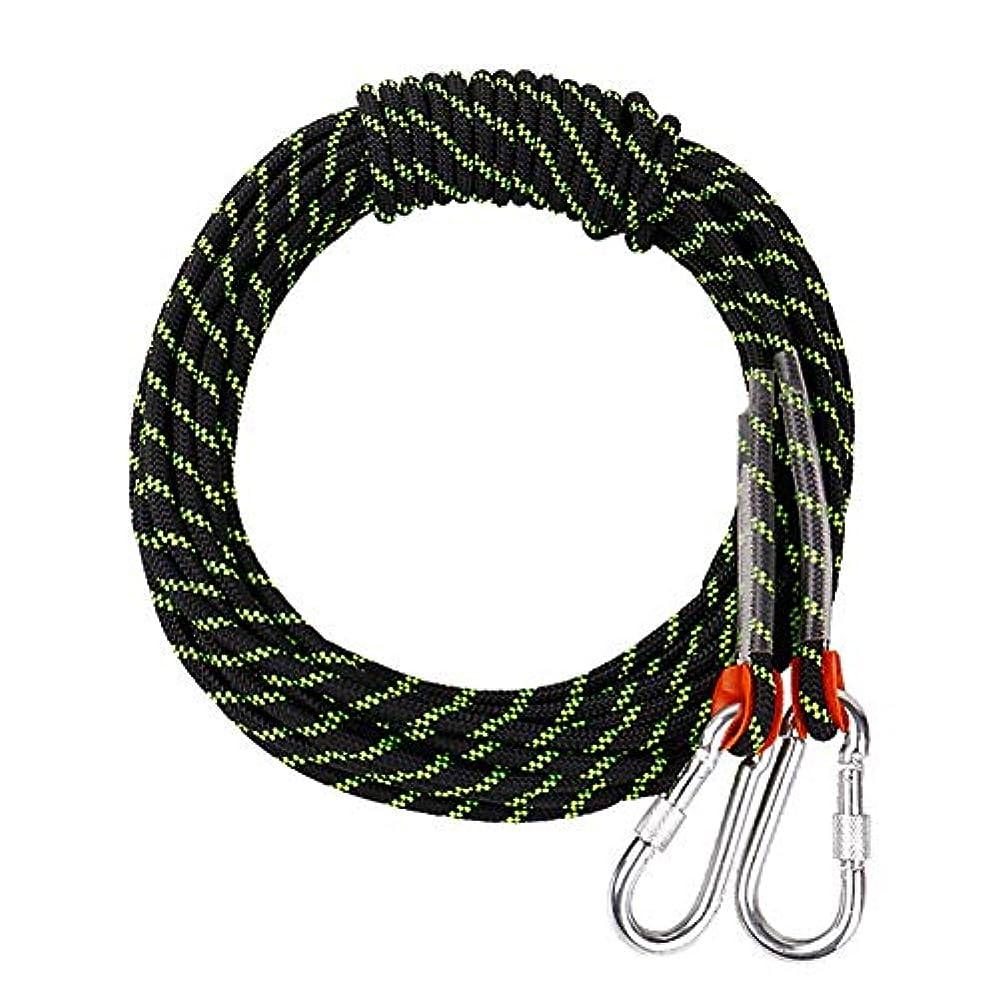 トンバッジワックスクライミングロープ ザイル 屋外の安全プロフェッショナルロッククライミングロープコード洞窟探検懸垂下降サバイバル補助コード(黒) 登山ロープ (Color : Black, Size : 10.5mm x 30m)