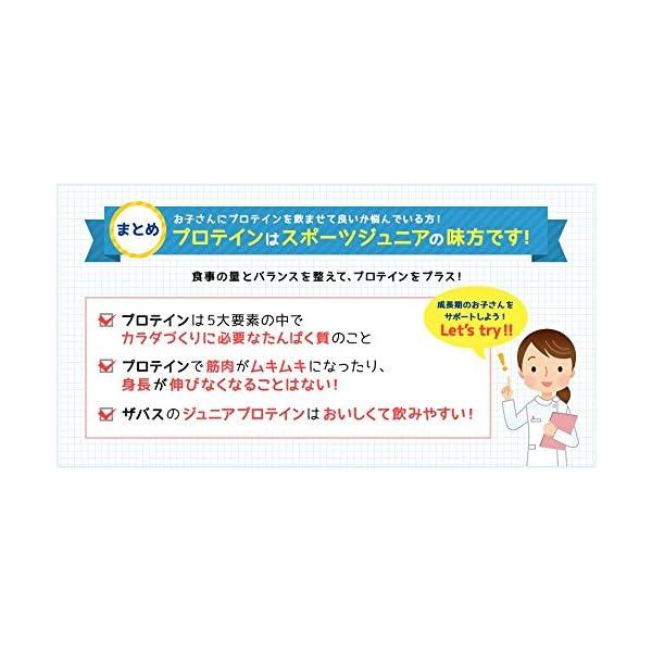 ザバス ジュニアプロテイン ココア味【60食分...の紹介画像4