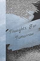 Thoughts For Tomorrow: Marble Blue Silver Glitter Creative Lined Writing Journal
