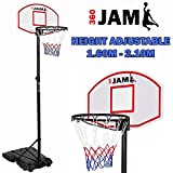 360 JAM Basketball Hoop Stand System Kids Height Adjustable Portable Net Ring