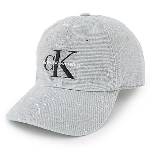 Calvin klein jeans カルバンクライン ジーンズ 41EH913 023 ロゴ 刺繍 ベースボールキャップ 帽子 スポーツ コーデュロイキャップ ペイント カラーGREY GREY/グレー [並行輸入品]