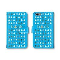 【ノーブランド品】 Android One 507SH スマホケース 手帳型 アニマル イラスト 動物 ブルー 青 かわいい おしゃれ 携帯カバー 507SH ケース 携帯ケース アンドロイド ワン