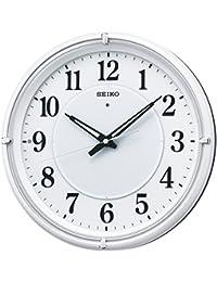 セイコー クロック 掛け時計 自動点灯 電波 アナログ 夜でも見える ファインライト NEO ネオ 白 パール KX393W SEIKO