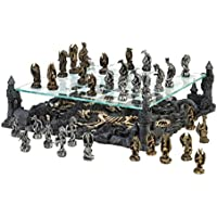 Dragon Themed Chess Set Glass Revolutionary Tournament Medieval Kids Adults Games Modern Standard Tabletop Decor